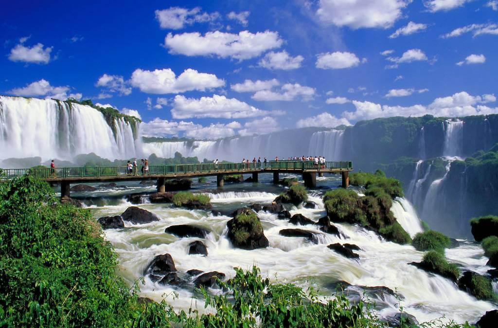 Waterfalls of the Iguazu River
