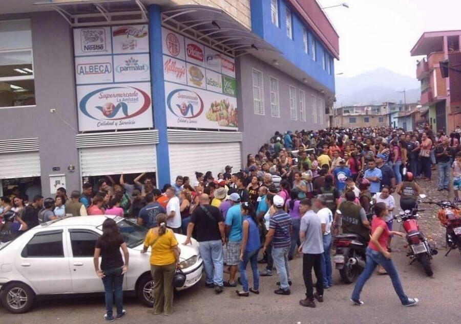 Нехватка продуктов в Венесуэле