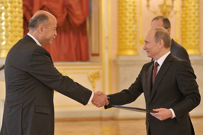 Рубен Белтран - Посол Мексики и Владимир Путин