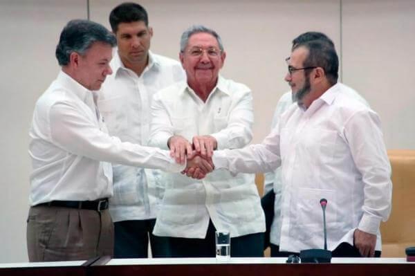 El encuentro en Bogota sobre FARC