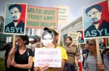 Демонстрация в поддержку Сноудена